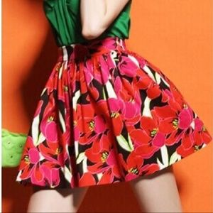 Kate Spade Rio Tropical Floral Coreen Full Skirt 8